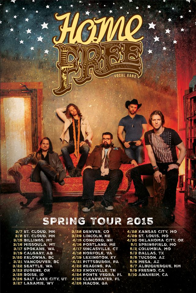 HOME FREE Tour Poster