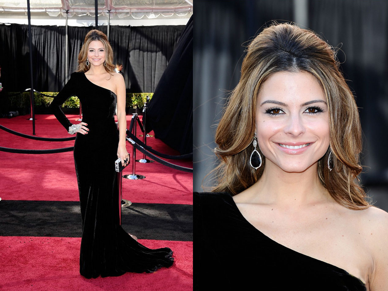 Maria-menunos-black-dress-red-carpet