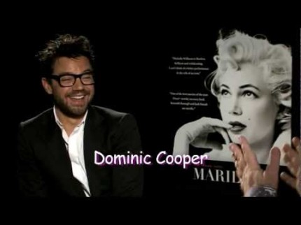 "Grooming for Dominic Cooper ""My Week with Marilyn"" Press"